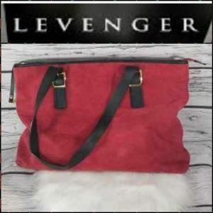 Levenger soft leather large shoulder bag Like new